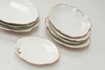 Vintage dessert plates, Limoges
