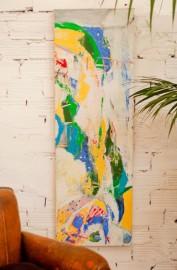 "Oil on canvas, ""Les falaises : Aube n°2"""