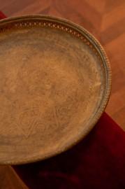 Plateau en laiton Orientaliste