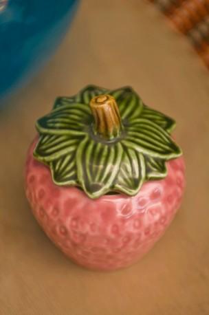 """Pot à confiture """"fraise"""""""