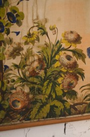 Large Tapestry on Canvas, end XIXth
