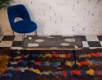 """Table basse 50s, """"partition musicale"""""""