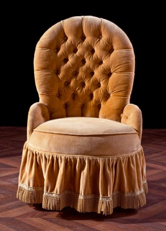 Fauteuil crapaud 1900 - RESERVE