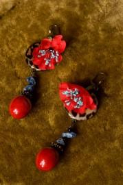 """""""Jolis Coquelicots"""", fancy earrings"""