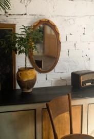 Miroir oval en bois 1920