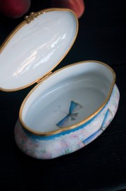"""Boîte  à bijoux """"Papillons"""", Limoges"""