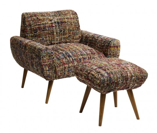 Fauteuil Maddy, avec son repose-pieds