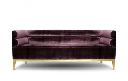Sofa Purple Twill Judy