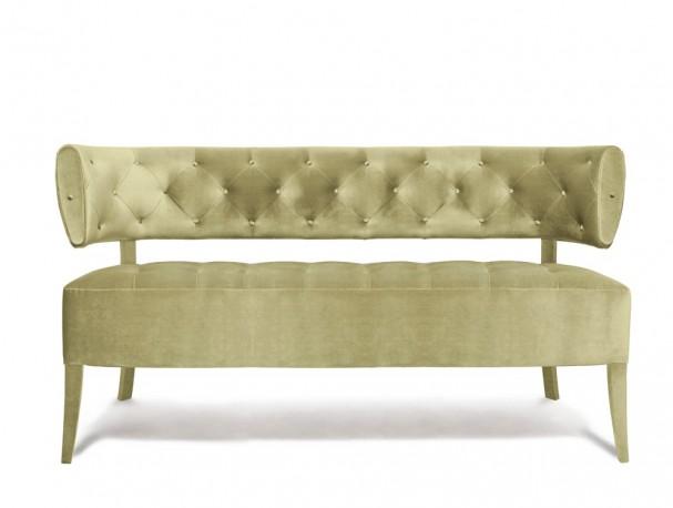 Sofa Ivory velvet Audrey
