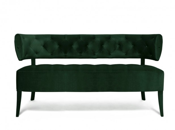 Banquette Audrey - Velours Vert