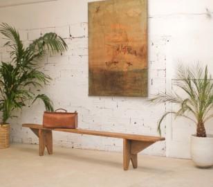 Golden Oak Bench